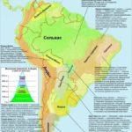 Южная Америка. Природные облати. Карта.