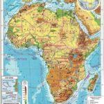 Африка физическая карта