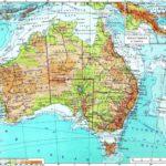 Австралия физическая карта