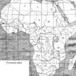 Политическая карта Африка