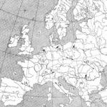 Карта Европы. Определи географические объекты
