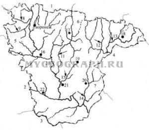 Контурная карта Воронежской области