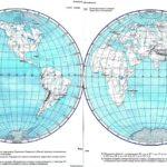 Контурная карта Полушария Мировая