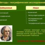 Методы географического исследования