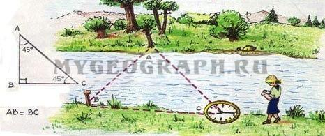 Измерение ширины реки